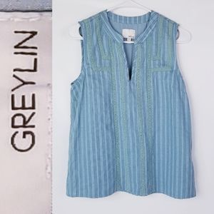 Anthropology Greylin Cotton Linen Top NWOT!
